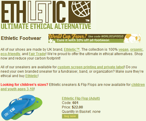 Autonomie Project: 10% Off Sweatshop Free Shoes