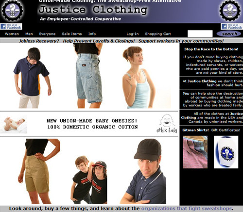 Justice Clothing Company - Sweatshop Free Clothes