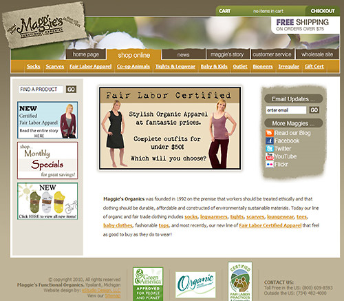 Maggie's Functional Organics and Fair Trade Clothing