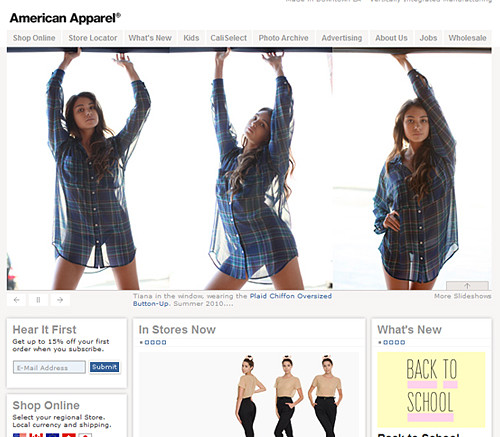American Apparel USA manufactured clothing and accessories