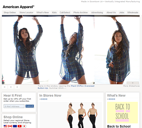 American online shopping clothes
