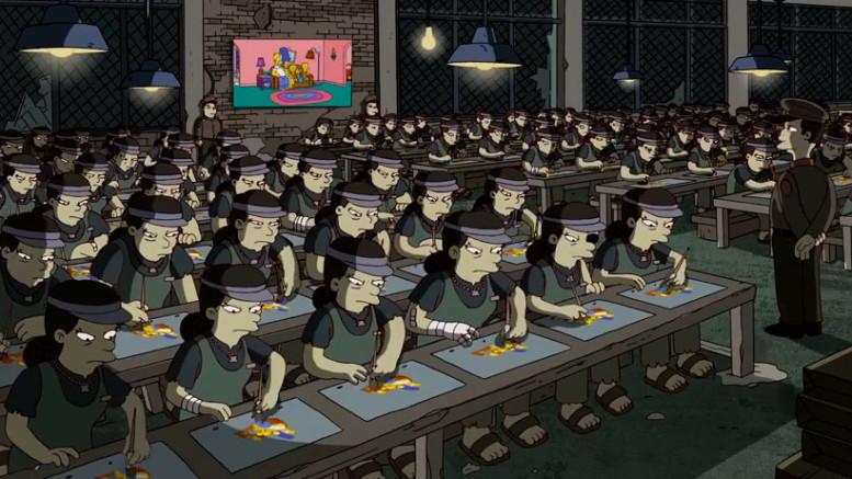 Simpsons Sweatshop Banksy Intro