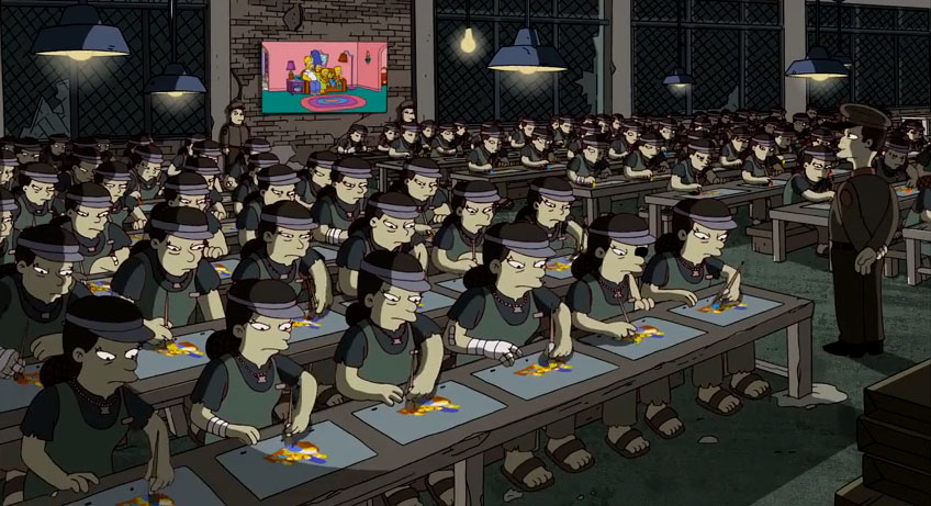 Simpsons Sweatshop Banksy Intro
