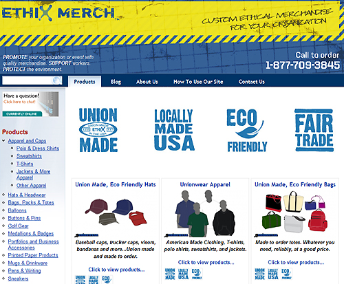 Ethix Merch - Custom ethical merchandise for your organization