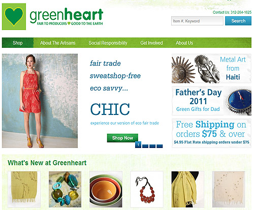 Green Heart - Eco-fair trade non-profit shop, carrying both fair trade and eco friendly products.