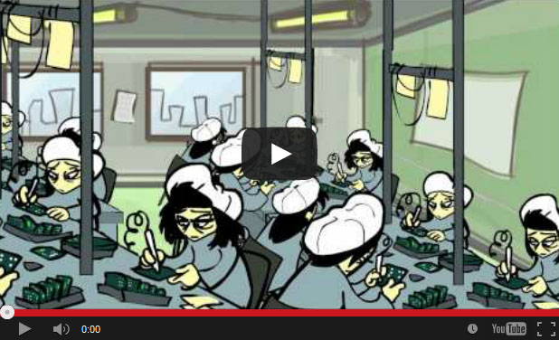 Procure IT Fair's Animated Computer Sweatshop Video