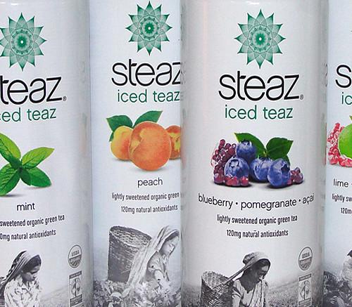Steaz Iced Teaz offers fair-trade green tea in a can